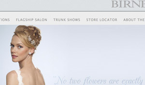 High-End Bridal Website: Birnbaum & Bullock